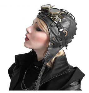 Black 'Bunker Bomber' Aviator Hat
