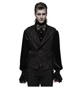 Black 'Nostalgic Lover' Gothic Waistcoat