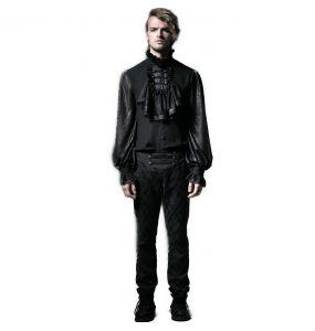 Pantalon 'Vampyr' en Brocart Noir