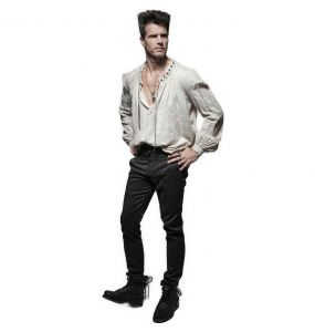 Black 'Torero' Brocade Pants