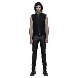 Pantalon Gothique 'Dementor' en Simili-Cuir Noir