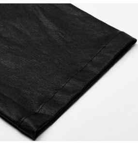 Black Leather Imitation 'Dementor' Pants