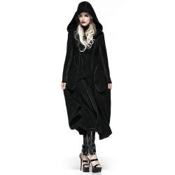 Manteau Réversible à Capuche 'Frozen Night' Noir