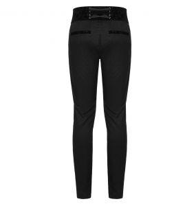 Black 'Romantic Goth' Pants with Velvet Belt