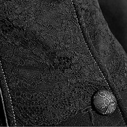 Gothic Hooded Winter 'Frozen Night' Black Coat