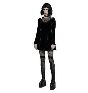 Mini Robe 'Dark Prajna' en Velours Noir