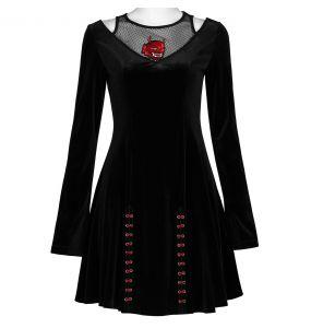 Black Velvet 'Dark Prajna' Mini Dress