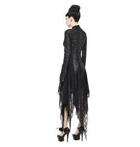 Black 'Dragon Spine' Gothic Dress
