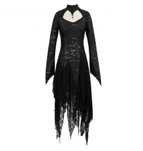 Robe Gothique 'Dragon Spine' Noire