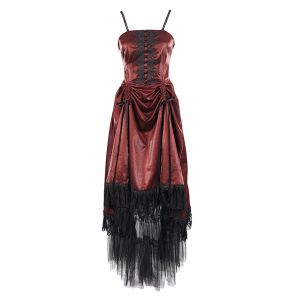 Robe Gothique 'Narcissa' Rouge
