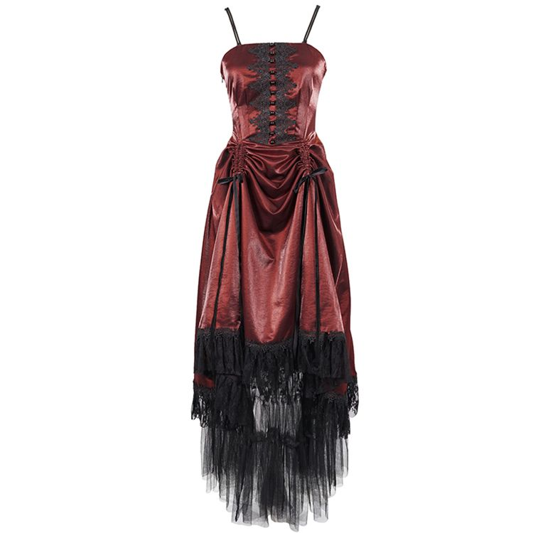 Red 'Narcissa' Gothic Dress
