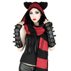 Gothic Arm Warmers Gloves with Buckles 'Dark Empire'