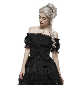 Black Short Sleeves 'Fleur De Lys' Top
