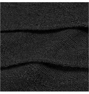 Black Asymmetric Long Sleeves 'Laertes' Top