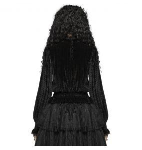 Black 'Amuria' Velvet Blouse