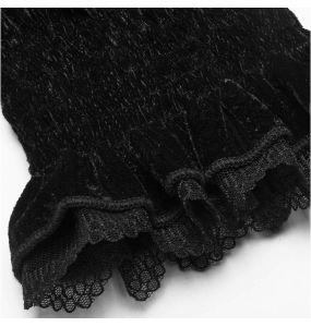 Chemisier 'Amuria' en Velours Noir