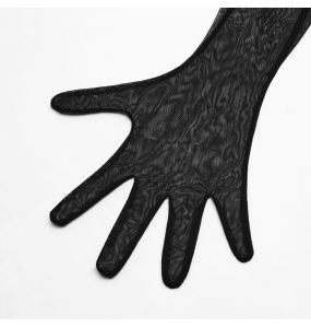 Black 'Enigma' Mesh Top