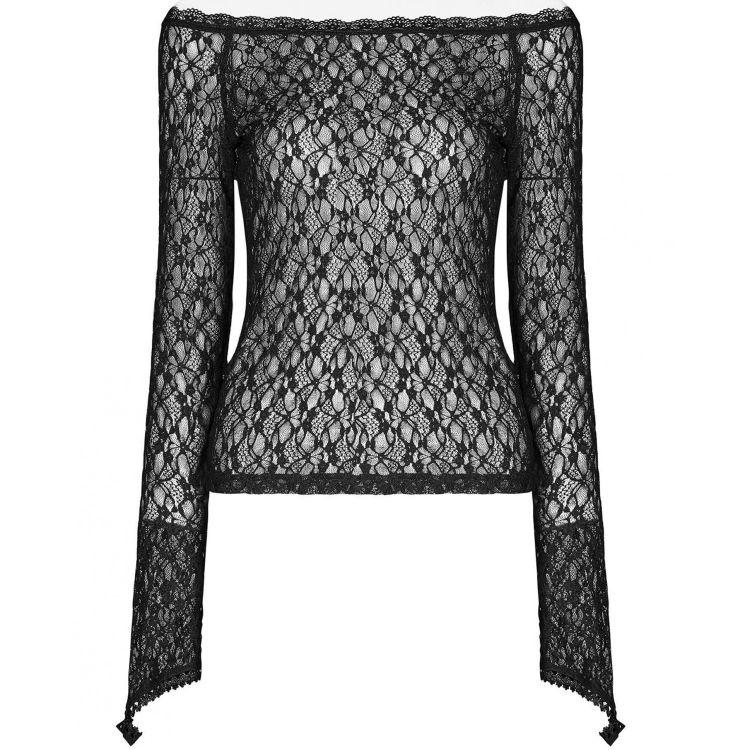 Black 'Vitrage' Lace Top
