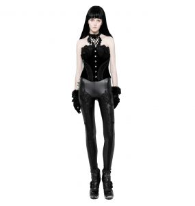 Black 'Soiree Gothic' Leggings