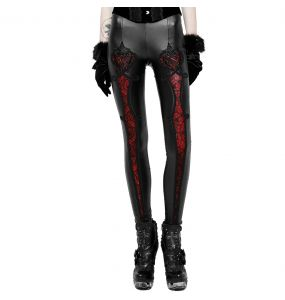 Black and Red 'Soiree Gothic' Leggings