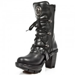 Black Leather New Rock Neo Trail Boots