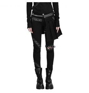 Pantalon-Demi-Jupe 'Catacomb' Noir