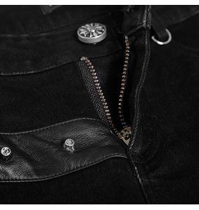 Black Half Skirt-Pants 'Catacomb'