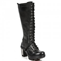Black Itali Leather New Rock Neo Trail High Boots