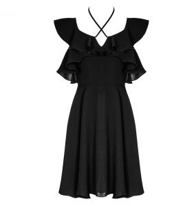Gothic 'Night Peony' Black Dress