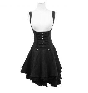 Robe d'été Gothic Lolita 'Rebella' Noire