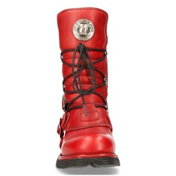 Red Leather New Rock Comfort Light Boots