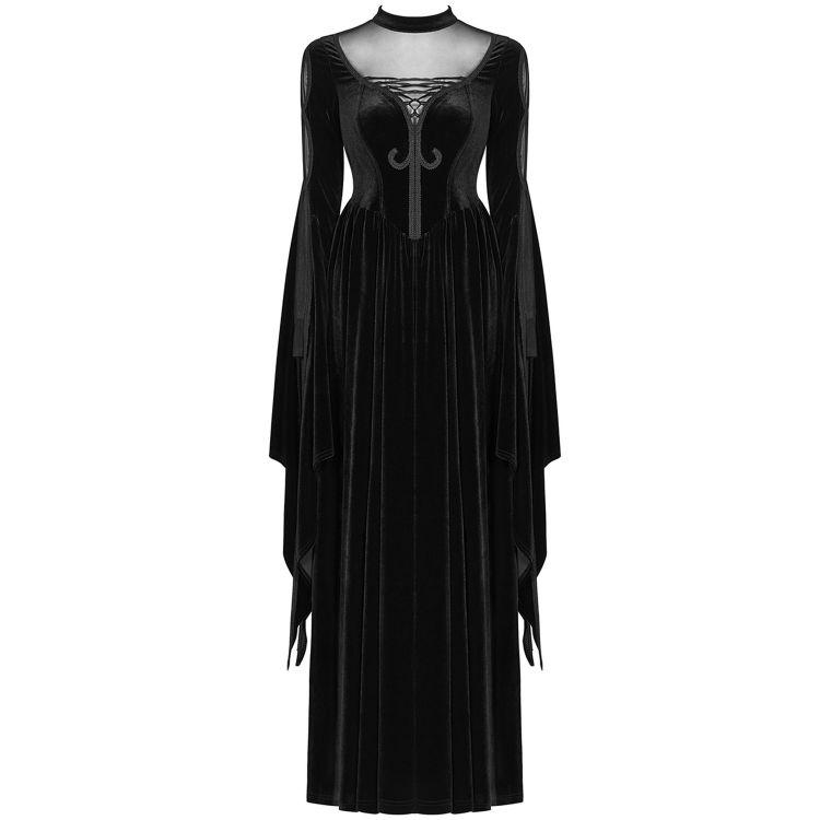 Black 'Princessa' Long Gothic Dress