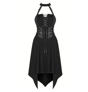 Black 'Bestia' Asymmetrical Dress