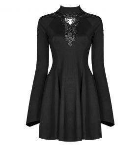 Black 'Arvena' Mini Dress