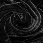 Black 'Nemesea' Gothic Velvet Dress