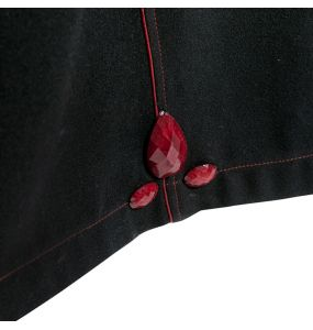 Manteau Réversible à Capuche 'Frozen Strawberry' Noir et Rouge