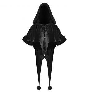 Cape Boléro Gothic Lolita à Capuche 'Black Fairy'
