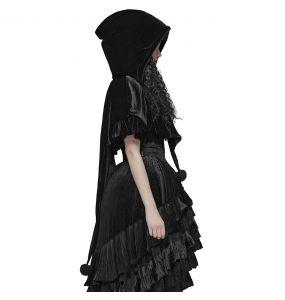 Gothic Lolita 'Black Fairy' Hooded Bolero Cape