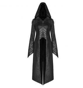 Black 'Scarabeus' Long Jacket