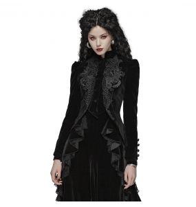 Veste Gothique 'Alluria' en Velours Noire