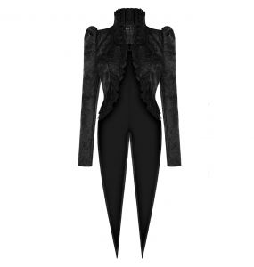 Black 'Versailles' Tailcoat Jacket