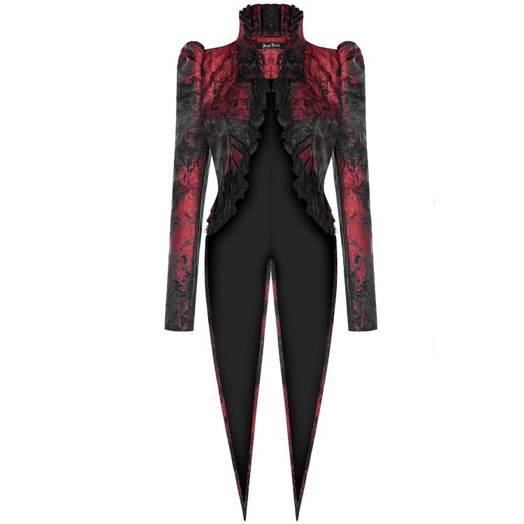 Red and Black 'Versailles' Tailcoat Jacket