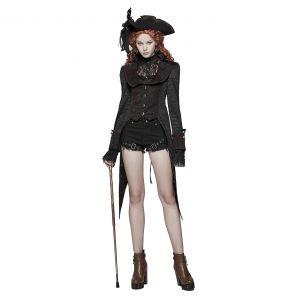 Veste Queue de Pie 'Duchess' Noire et Rouge