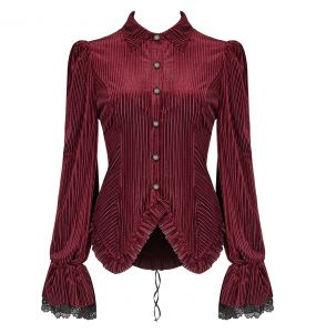Red 'Maeve' Blouse