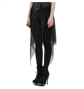 Leggings 'Goth Black Flames' Noir