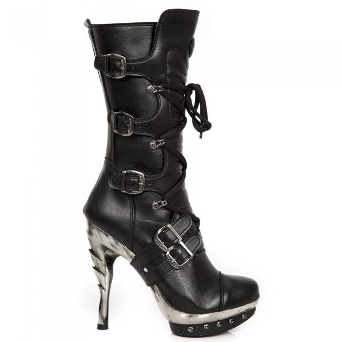 Black Vegan New Rock Punk Boots