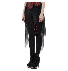 Leggings 'Goth Flames' Noir et Rouge