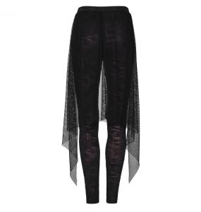 Black and Red 'Goth Flames' Leggings
