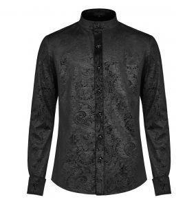 Black 'Nocturn' Brocade Shirt