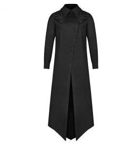 Black 'Malkavian' Extra Long Shirt